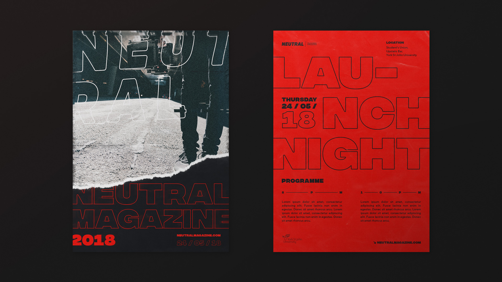 Neutral Magazine Leaflet Design